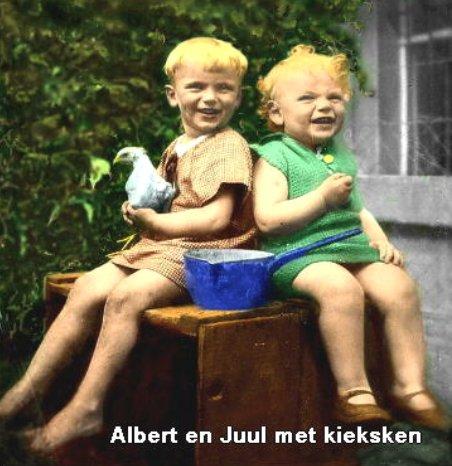 Albert en Juul met kieksken