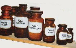 Flessen van de apotheker