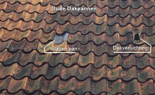 Oude dakpannen