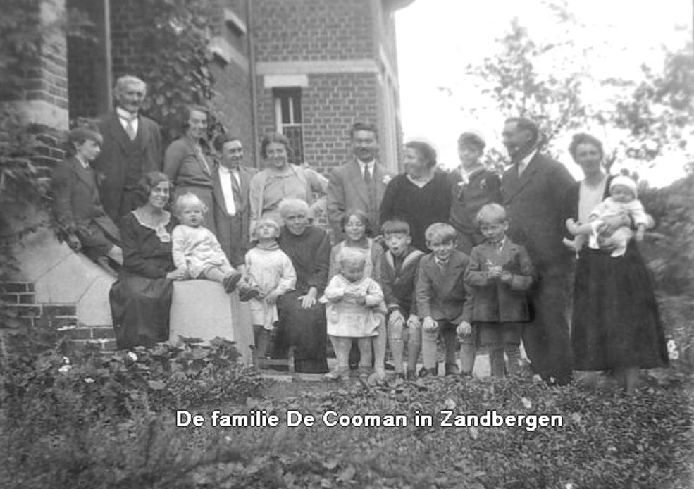 Familie De Cooman in Zandbergen