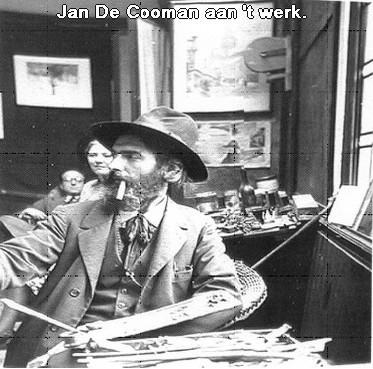 Jan De Cooman aan 't werk in zijn atelier