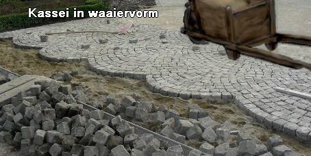 Kasseien in waaiervorm