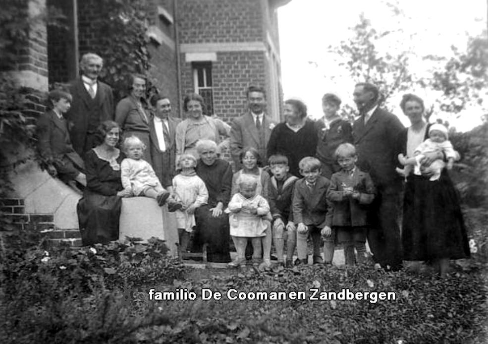 La familio De Cooman en Zandbergen